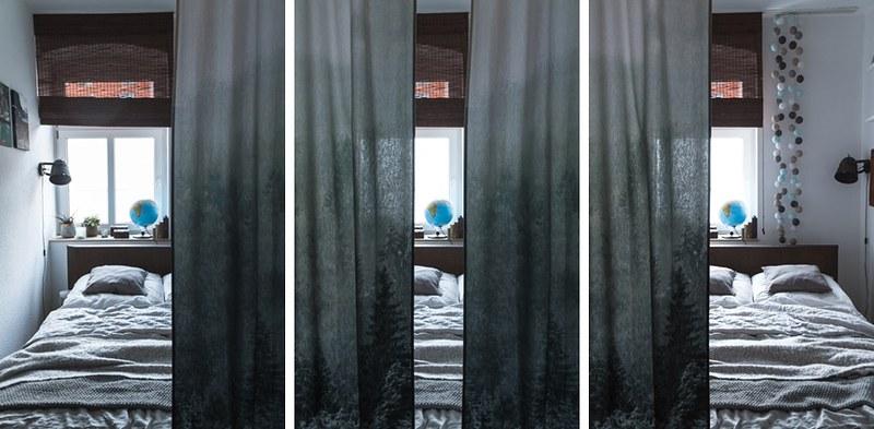 H&M Home-Vorhänge-Schlafzimmer-Bettvorhang