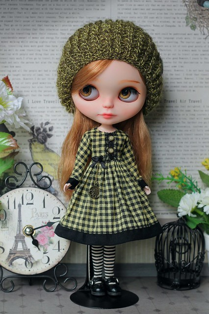 """Outfit for Blythe """"Retro-time"""""""