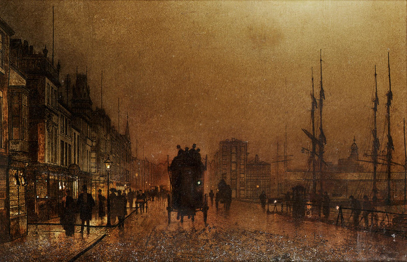 The Broomielaw Glasgow by John Atkinson Grimshaw, 1889