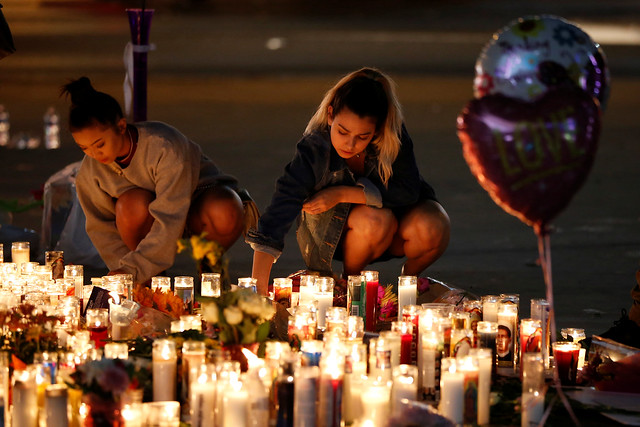 Vigil following mass shooting in Las Vegas