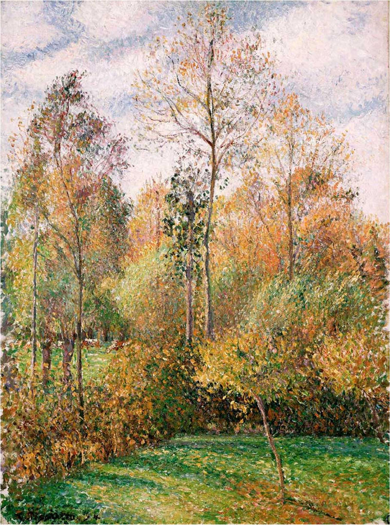 Autumn Poplars by Camille Pissarro, 1893