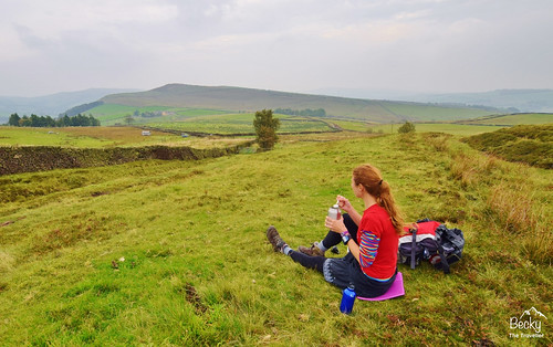 Peak District Hayfield - Having lunch on my day hike
