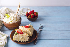 cottage cheese casserole with strawberries