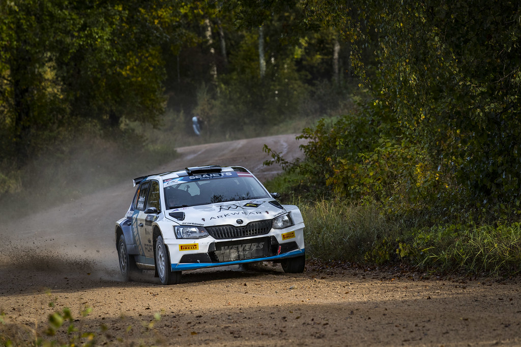07 Von Thurn und Taxis Albert and Degandt Bjorn, Skoda Fabia R5 action during the 2017 European Rally Championship ERC Liepaja rally,  from october 6 to 8, at Liepaja, Lettonie - Photo Gregory Lenormand / DPPI