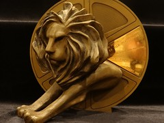 Cannes Lions film festival medal obverse