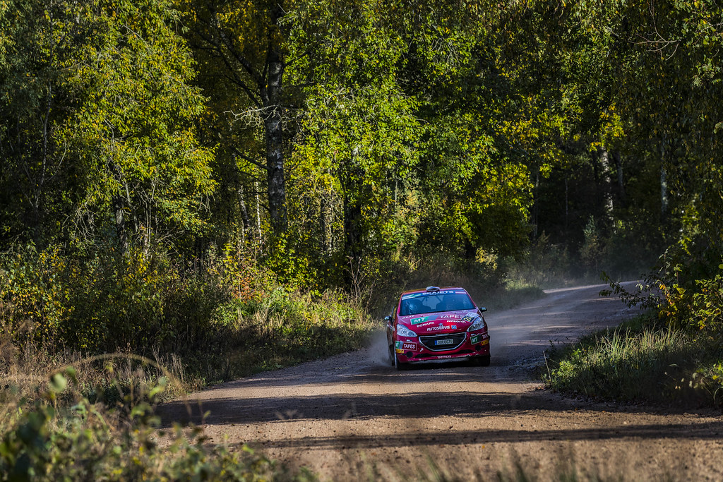 24 Kupec Karel and Osicka Vladimír, Botka - Tlustak Racing, Peugeot 208 R2 ERC Junior U27 action during the 2017 European Rally Championship ERC Liepaja rally,  from october 6 to 8, at Liepaja, Lettonie - Photo Gregory Lenormand / DPPI