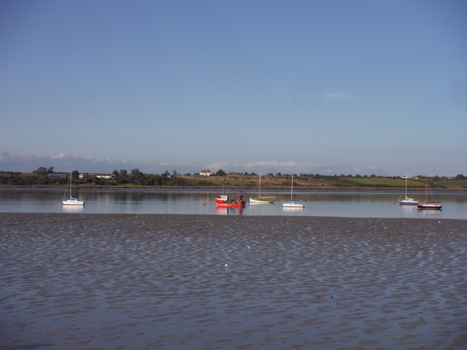 Boats and the Isle of Harty SWC Walk 299 - Teynham to Faversham