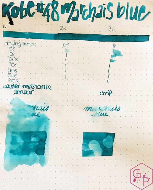 Ink Shot Review Kobe Ink #48 Marchais Blue @GoldspotPens 2