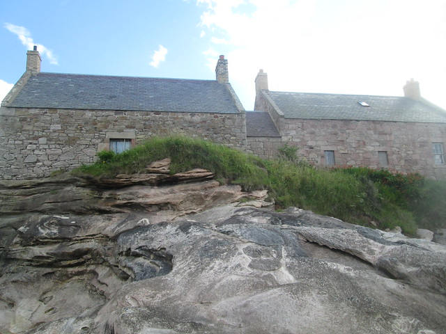 rocks and houses  at Cove