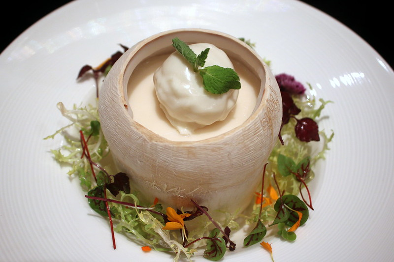 Coconut Pudding with Vanilla Ice Cream from Jia Wei at Grand Mercure Roxy