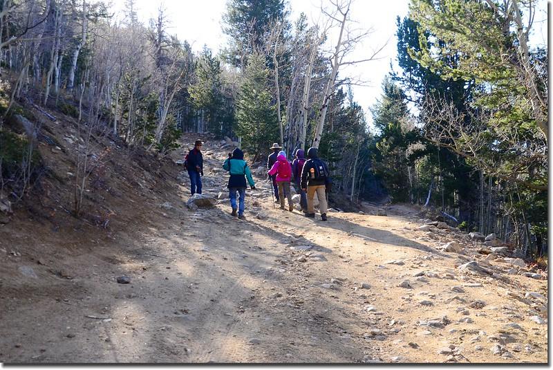 Bill Moore Lake Trail (The Chutes) fork (L)