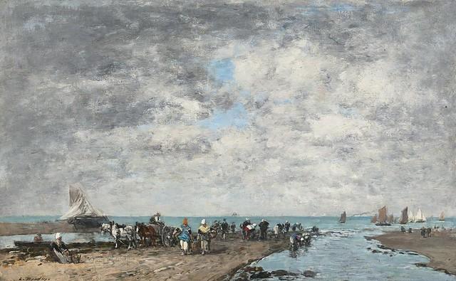 Eugène Boudin - Trouville, marée basse (Touville, Low Tide) [c.1872-73]
