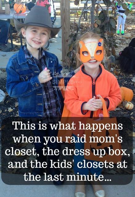 Last minute costume creations on The SIMPLE Moms easy Halloween ideas