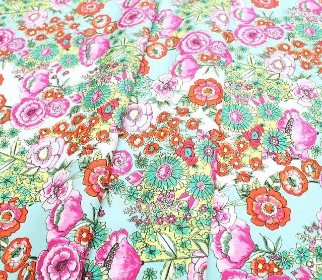 Art Gallery Fabrics Wild Bloom Flower Shower Intense