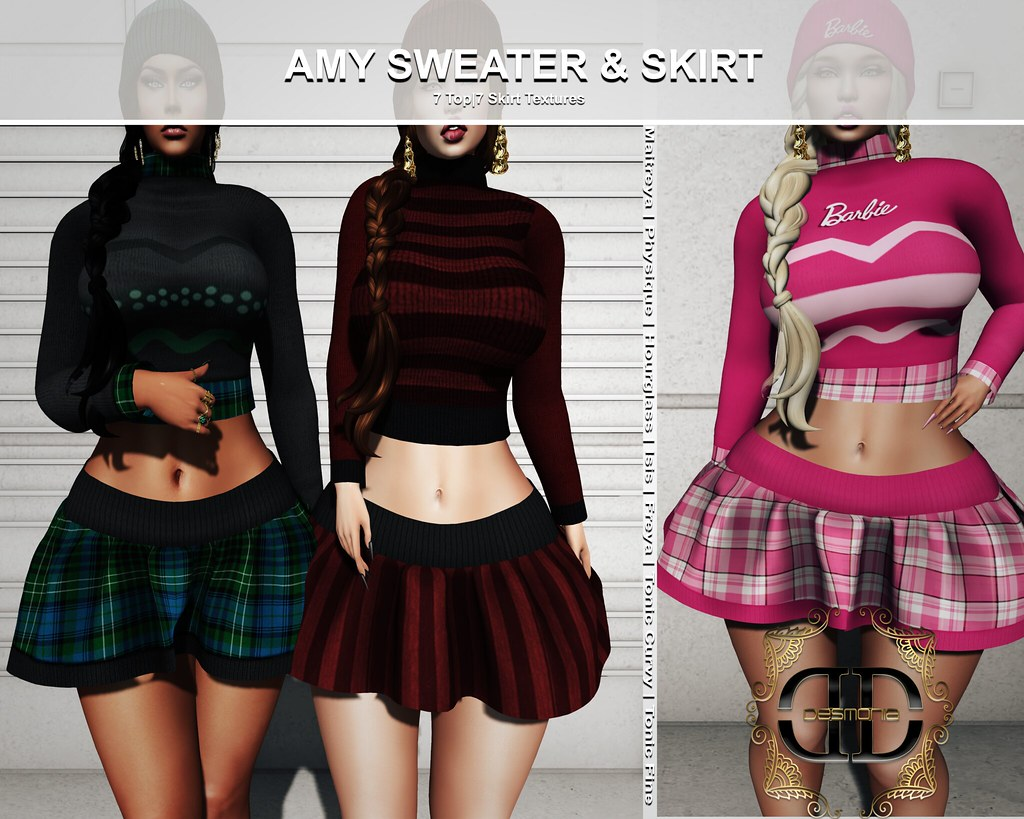 Desmonia​ Amy Sweater & Skirt Fatpack now in Mainstore and MP - TeleportHub.com Live!