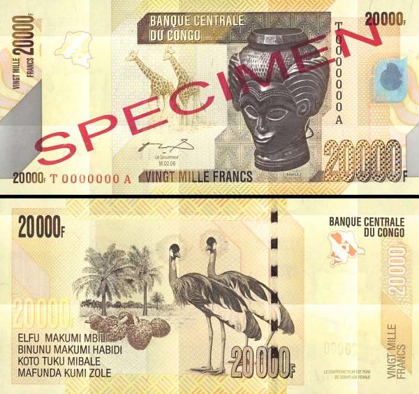 20 000 Frankov Kongo Dem.Rep. 2006(12), P104s