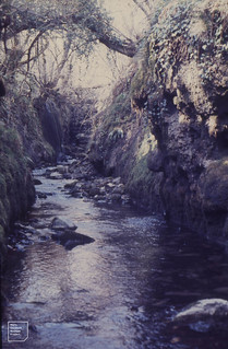 Collpased cavern on Glais. Tufa and Ogof Rhyd Sych right. March 1976