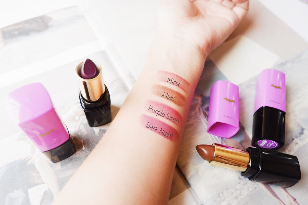 Tupperware Batgirl Lipstick Swatches