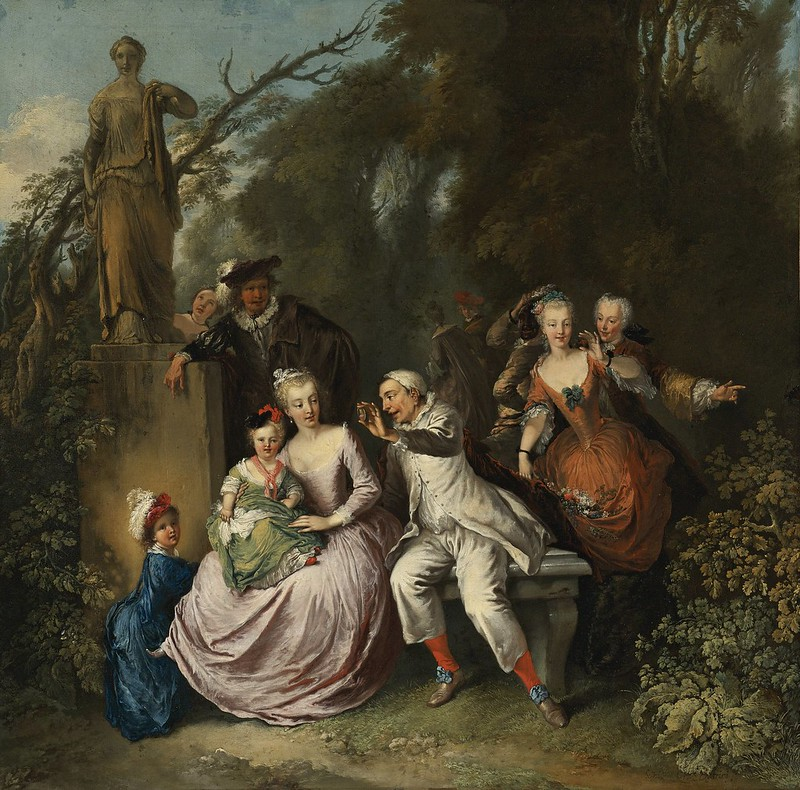Christian Wilhelm Ernst Dietrich - A comedic performance in a park setting