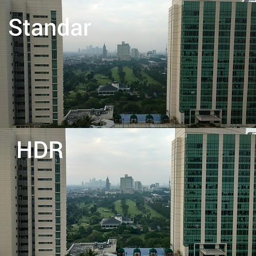 Hasil foto dengan modus Standar dan modus HDR