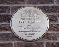 Photo of Theatre Royal, Bishop Auckland and Eden Theatre, Bishop Auckland white plaque