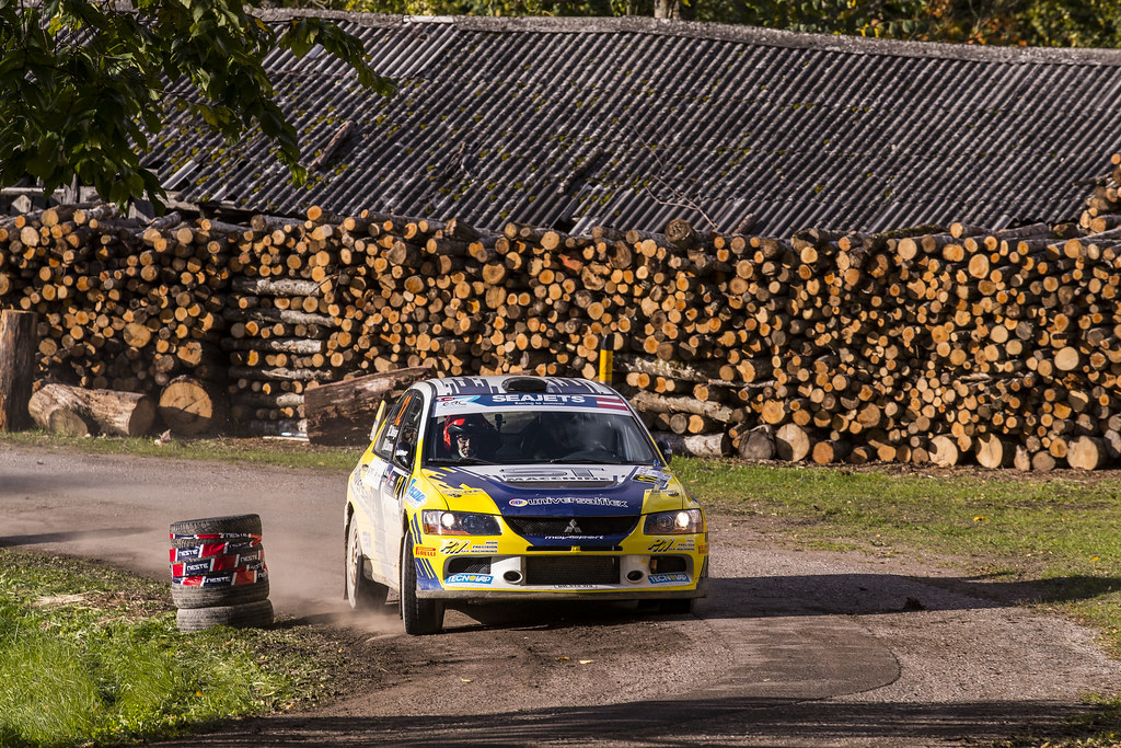 12 Melegari Zelindo and Barone Maurizio, Zelindo Melegari, Mitsubishi Lancer Evo IX action during the 2017 European Rally Championship ERC Liepaja rally,  from october 6 to 8, at Liepaja, Lettonie - Photo Gregory Lenormand / DPPI