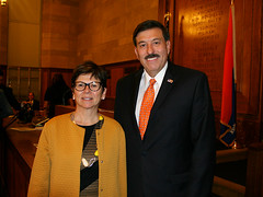 With Annavaleria Guazzieri, Italian Consulate Director of Ed.