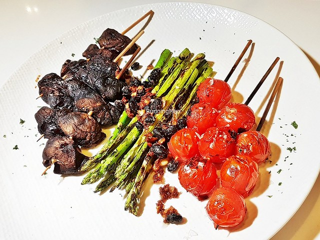 Grilled Vegetable Platter - Shiitake, Asparagus, Vine Tomatoes