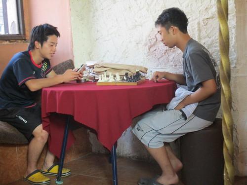 チェスが流行る。 ワキサカは弱い