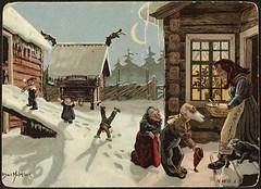 Julemotiv tegnet av Othar Holmboe