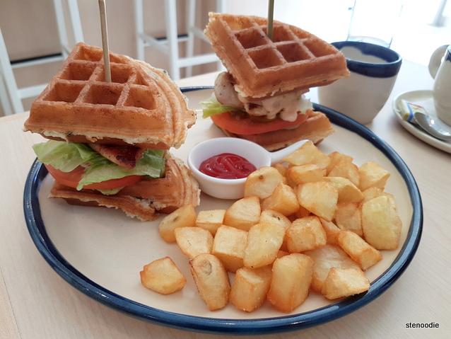 Platform Waffle Club Sandwich