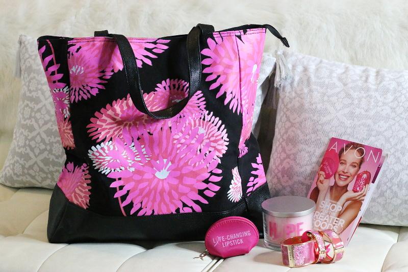 avon-pink-breast-cancer-awareness-bag-bangles-candle-lipstick-2