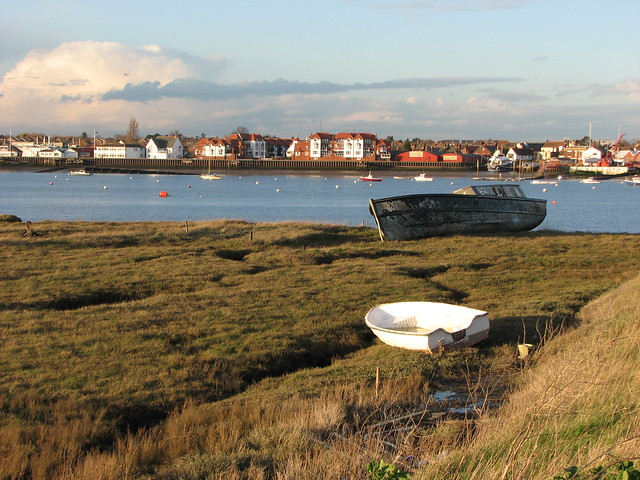 Burnham-on-Crouch from Wallasea Island