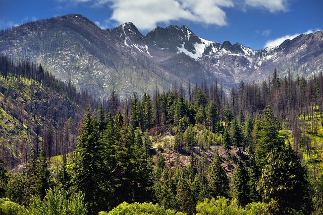 Hillsides and Mountain Peaks Above Lucerne Campground