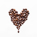 Heart made of coffee beans by wuestenigel