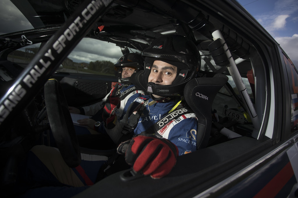 Muradian Artur and Chelebayev Pavel, Neiksans Rally Sport, Peugeot 208 R2 ambiance portrait during the 2017 European Rally Championship ERC Liepaja rally,  from october 6 to 8, at Liepaja, Lettonie - Photo Gregory Lenormand / DPPI