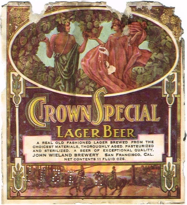 Crown-Special-Lager-Beer-Labels-John-Wieland-Brewery--San-Francisco-Breweries