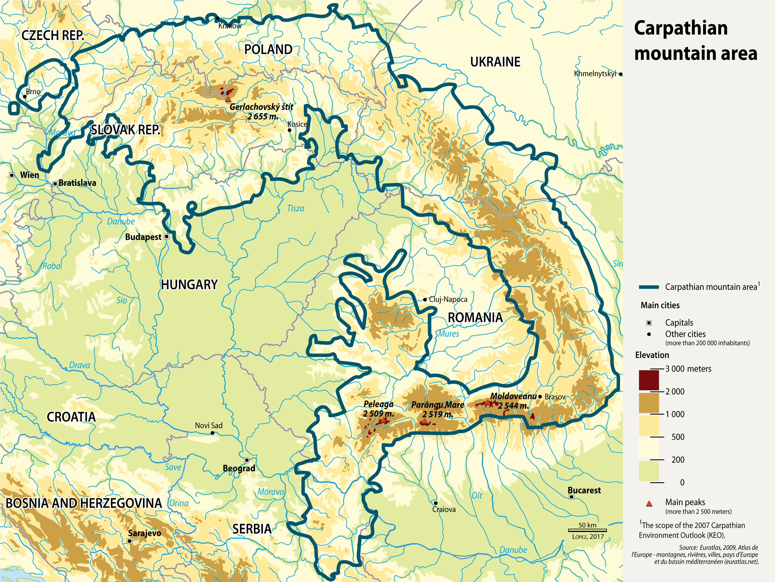 carpathian mountain area