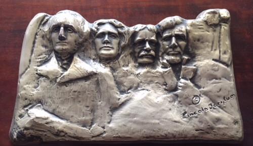 Lincoln Borglum, Mount Rushmore plaque