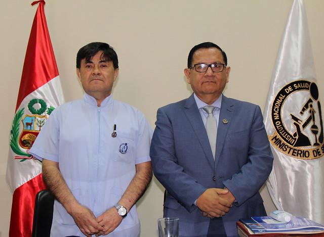Presentación del jefe del Instituto Nacional de Salud, Dr. César Cabezas Sánchez