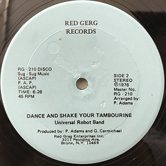 UNIVERSAL ROBOT BAND:DANCE AND SHAKE YOUR TAMBOURINE(LABEL SIDE-B)