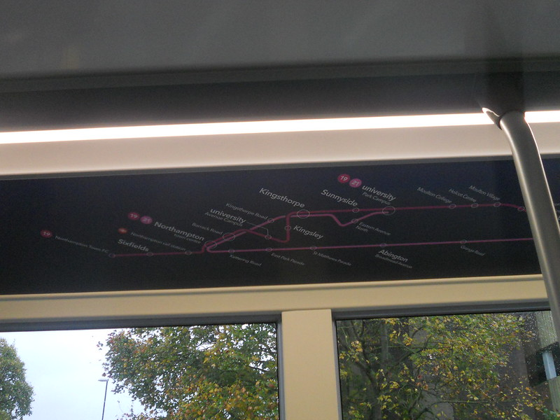 Route map on Uno 292 YX67 VFW