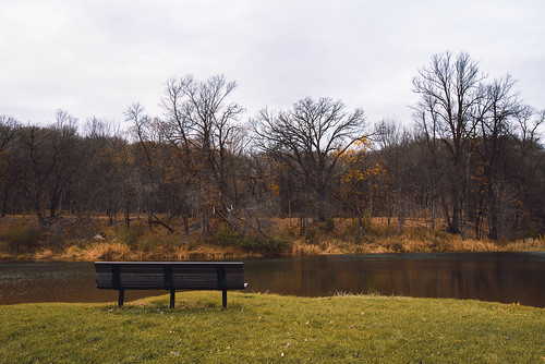 autumncolors camdenstatepark minnesota autumn bench fall fallcolors pond trees lynd unitedstates us