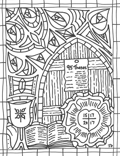Reformation 500 coloring page