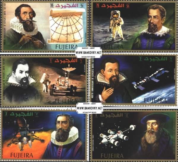 Známky Fujeira 1972 J. Kepler, nerazítkovaná séria MNH