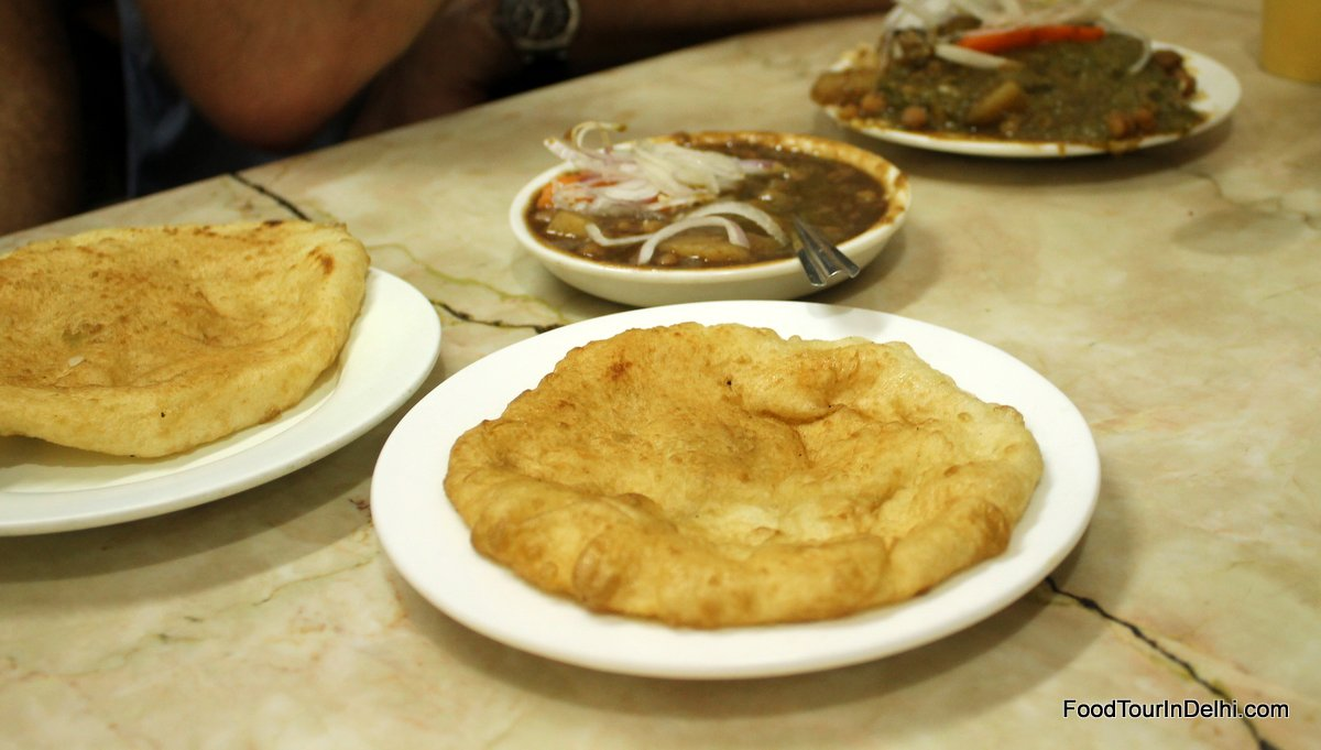Choley and bhaturey cooked according to old recipes