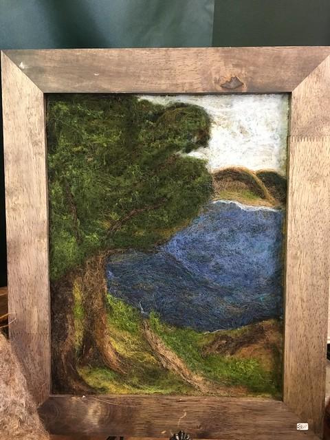 Needle-felted landscape