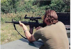 Gun range AR-15 Heavy Barrel.