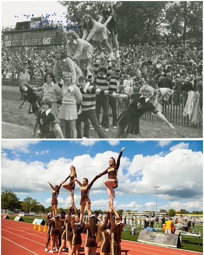 Then & Now: Valpo Cheerleading! During football season, nothing pumps up the Valpo spirit like our cheerleading team, no matter what year it is. Check out these moves from 1980 to now! #TBT #GoValpo