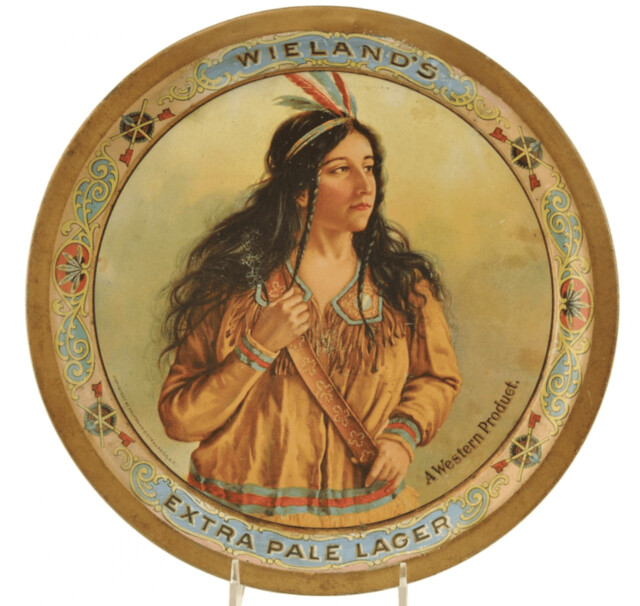 wielands-extra-pale-lager-indian-girl-beer-tray